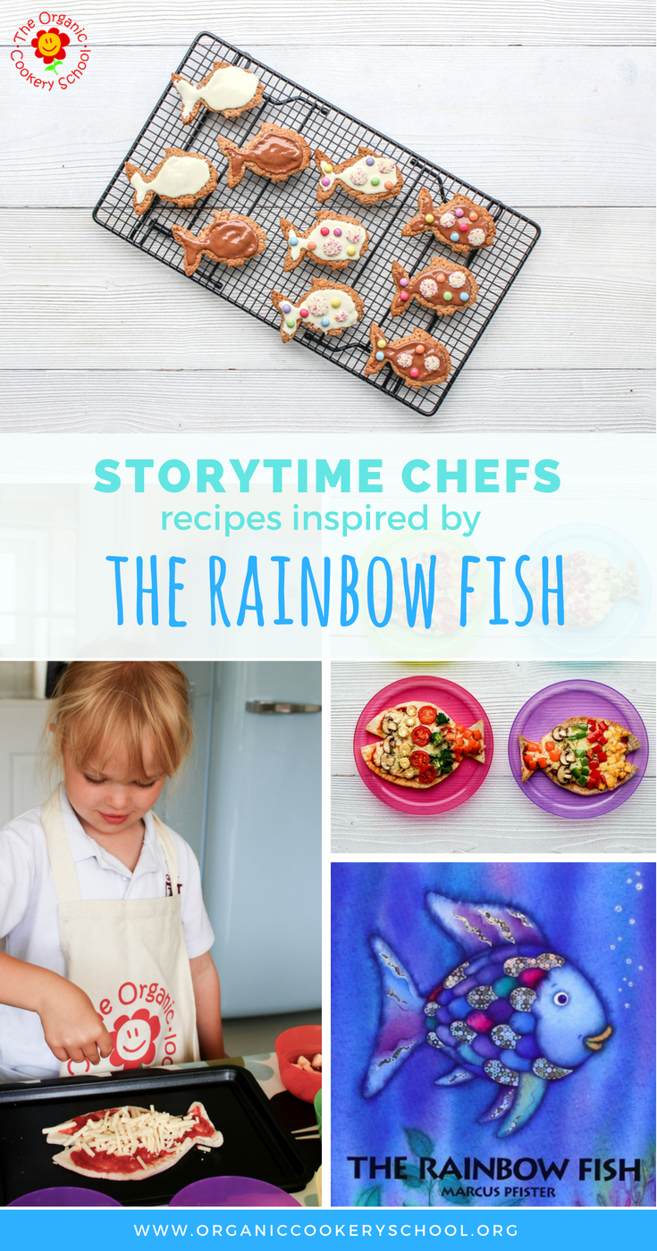 rainbow fish recipes - storytime chefs - the organic cookery school - rainbow pizza and rainbow digestives.png
