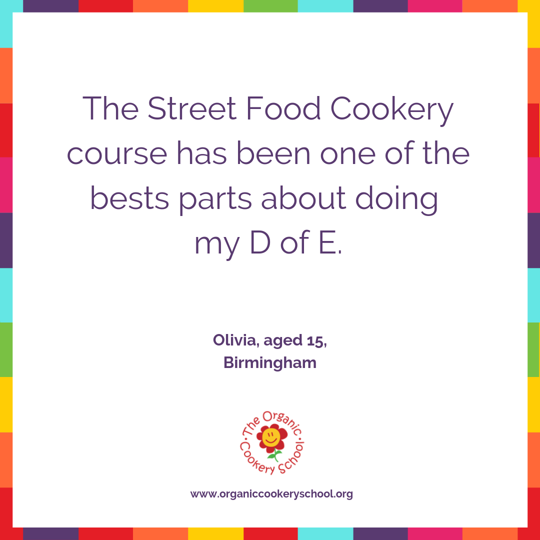 Duke of Edinburgh Cookery - Home study Street Food Course
