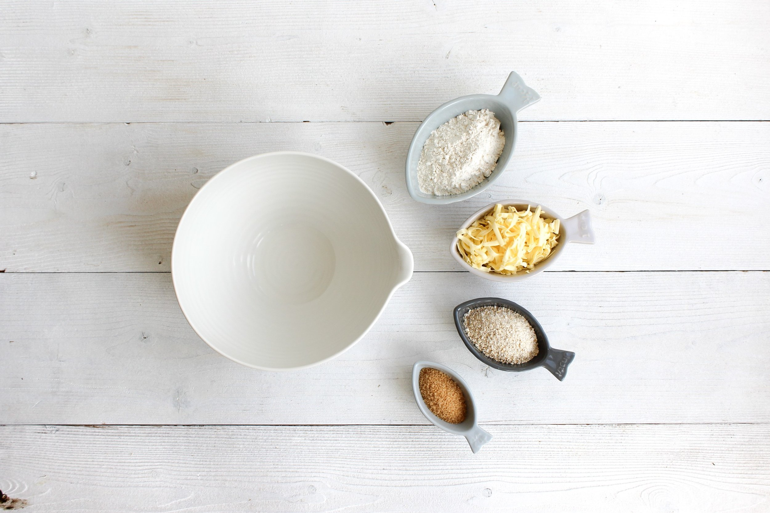 Weigh and prepare crumble topping ingredients