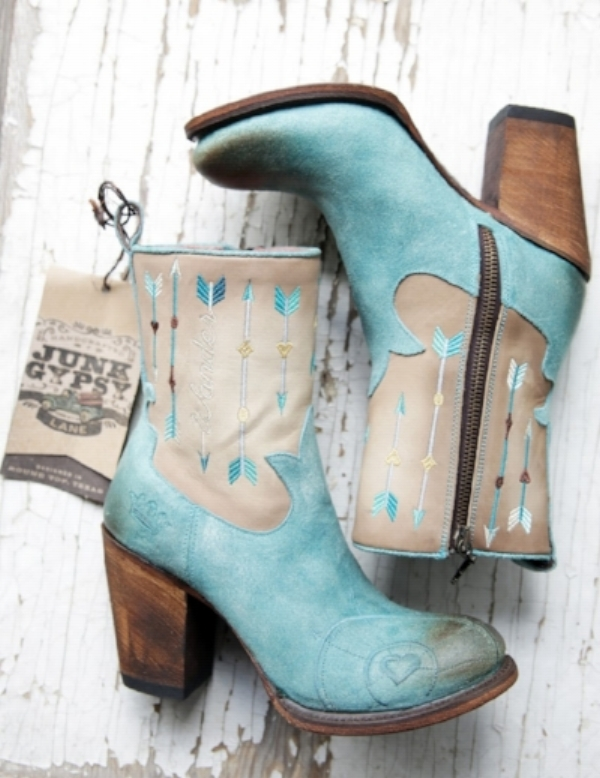 More turquoise… These are just too cute!  Kacey Musgraves said follow your arrow… my arrow is saying buy these boots…