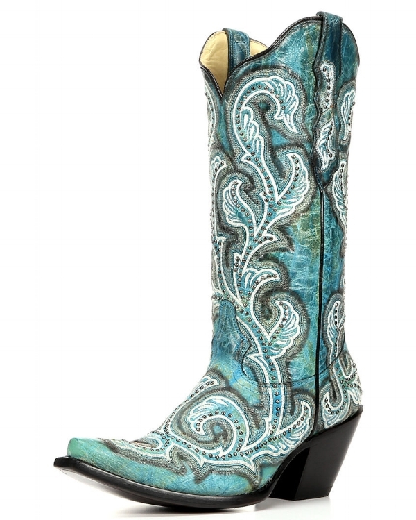 Corral's turquoise shaded embroidery and studs' is an amazing price for such a beautiful boot! Plus, who doesn't love turquoise?! They're $359.99 at Betty Boot's.