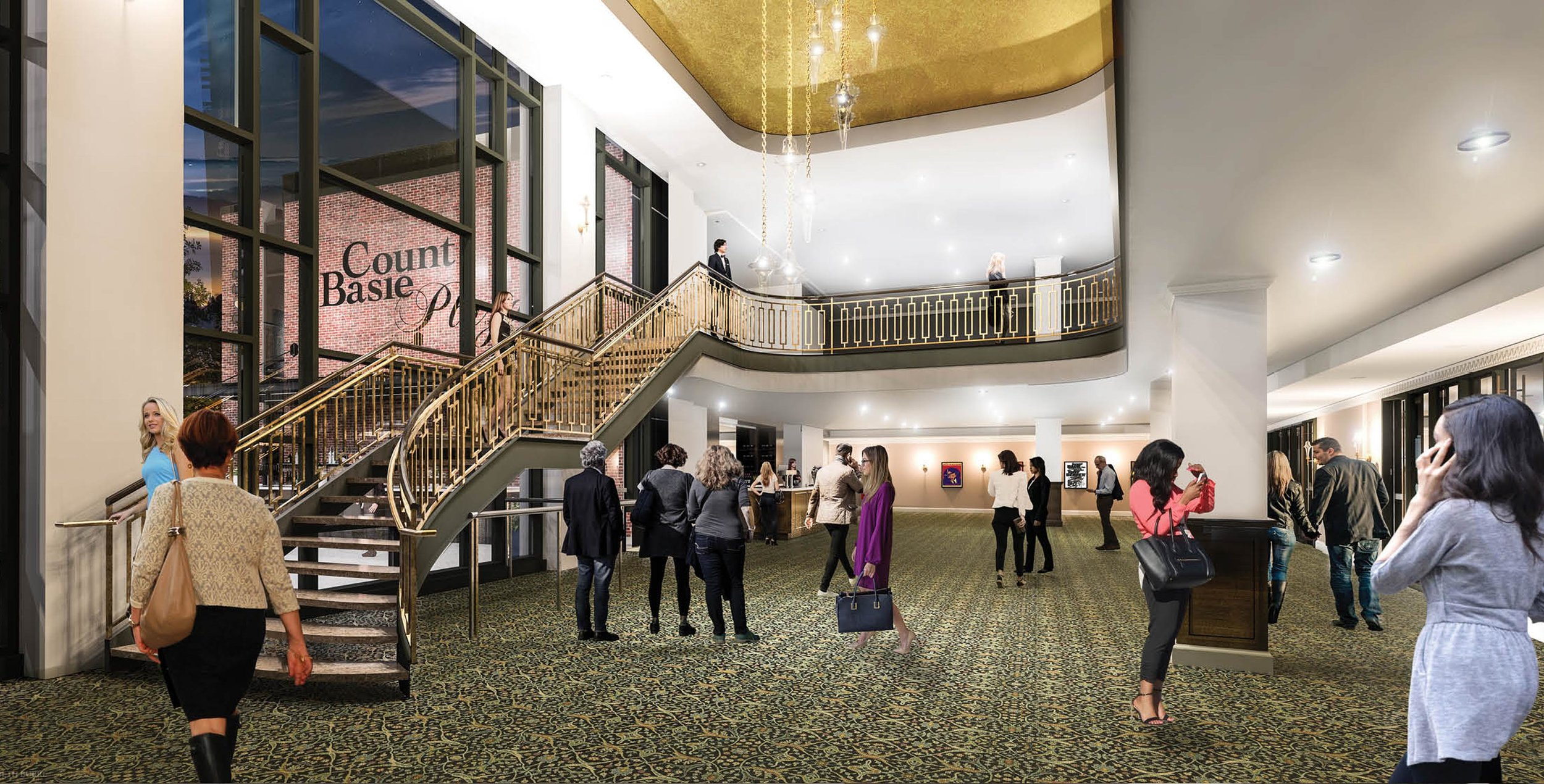 The new Count Basie Theatre lobby