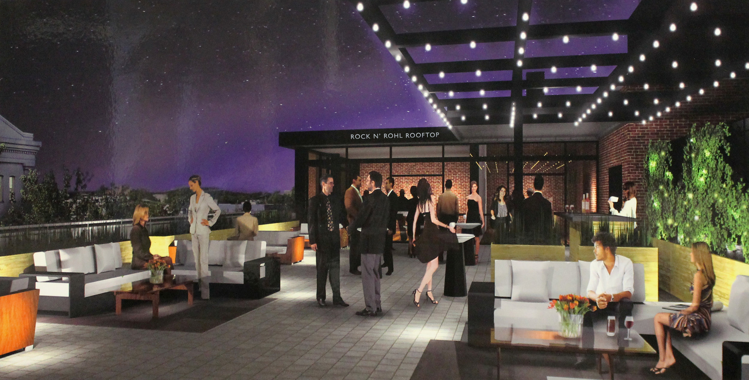 The Rock n' Rohl Rooftop Lounge