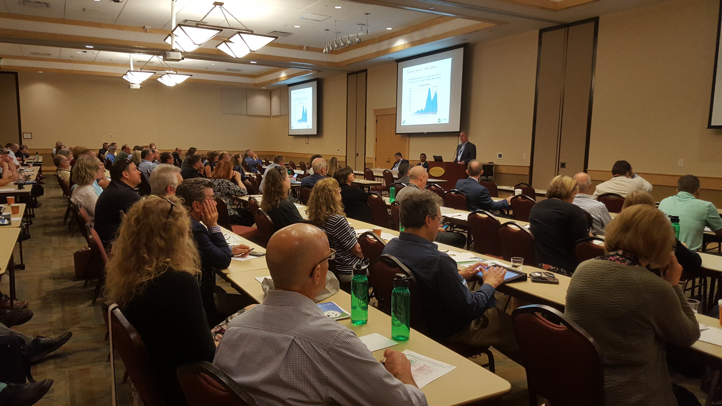 Dan Topping speaking to a full house at the SUNY/PPAA Summer Conference