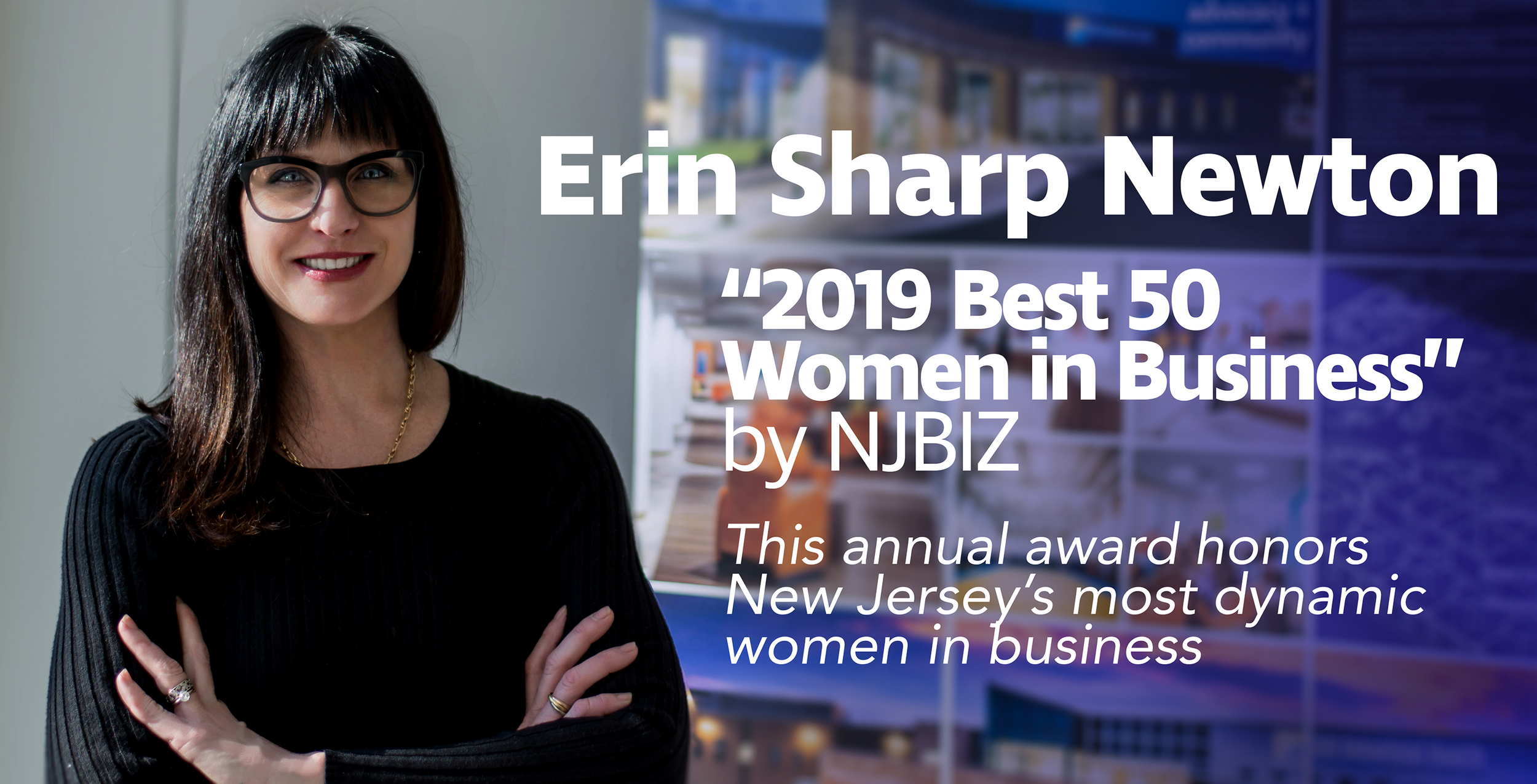 Erin Sharp Newton named one of 2019's Best 50 Women in Business by NJBIZ