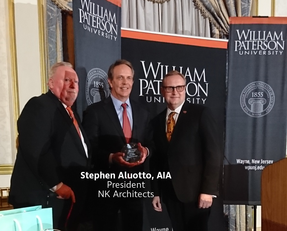 "Stephen Aluotto, AIA receives ""Distinguished Organization"" award from William Paterson University."