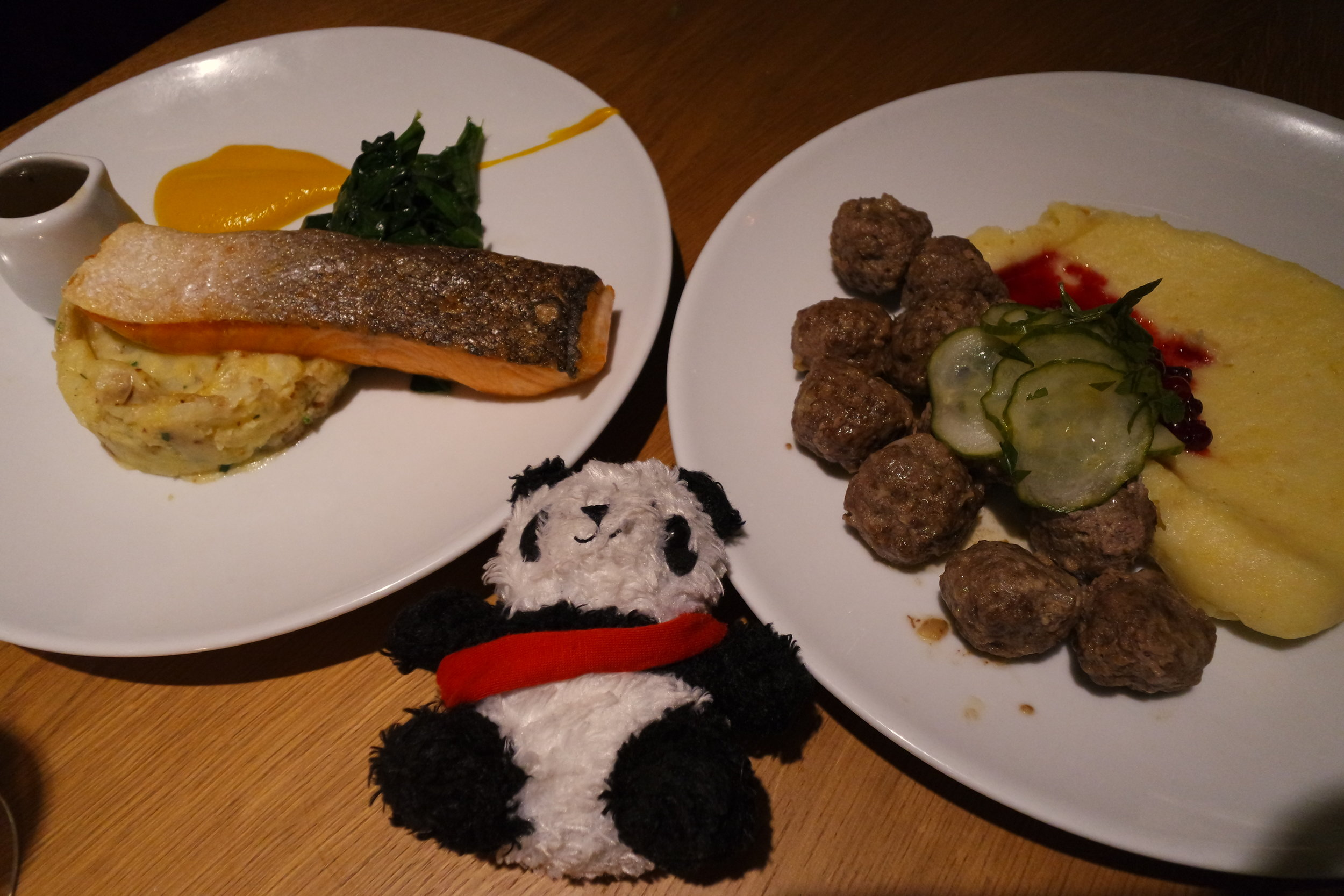 mains crispy salmon swedish meatballs