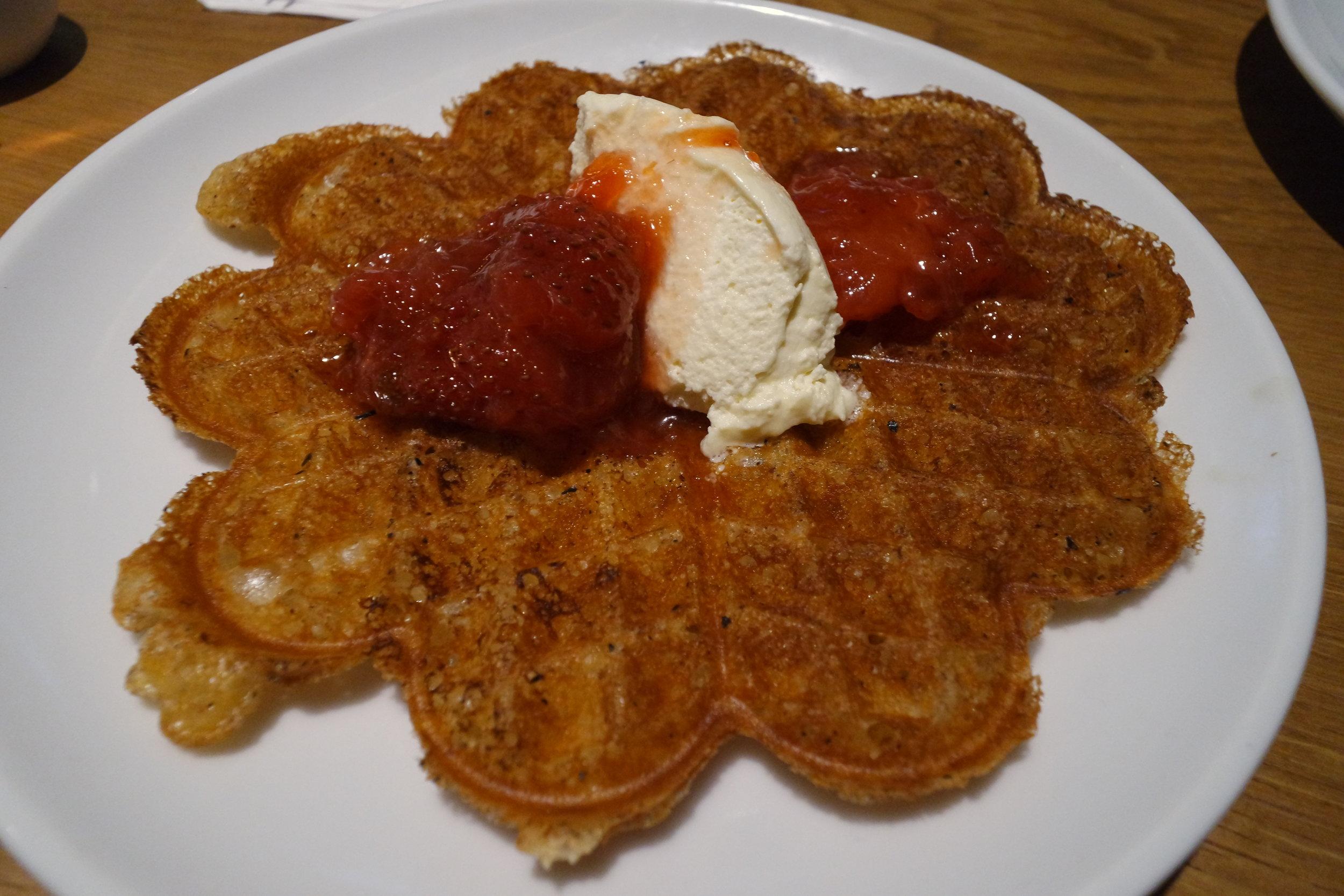 smaka dessert swedish waffle