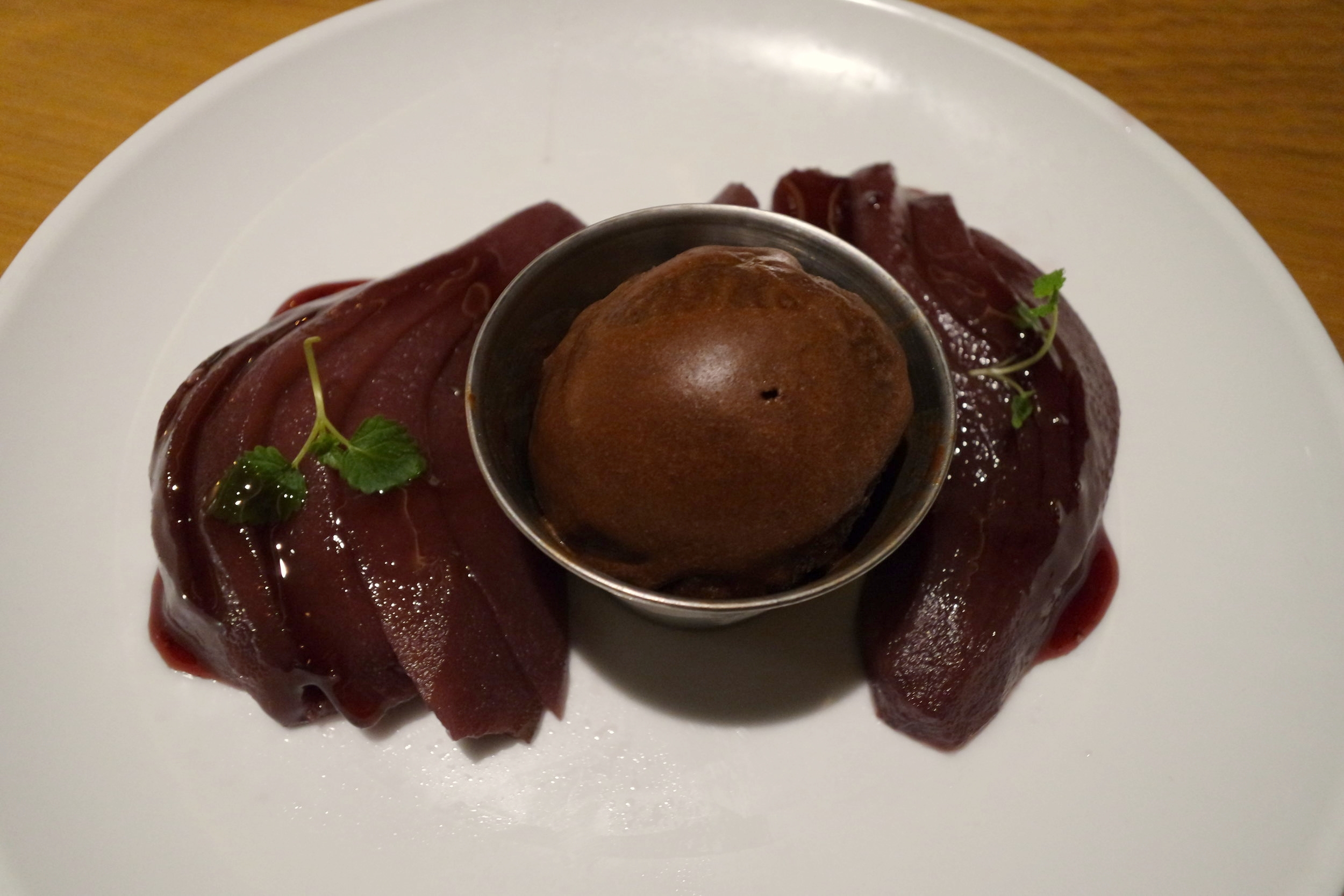 smaka dessert poached pear