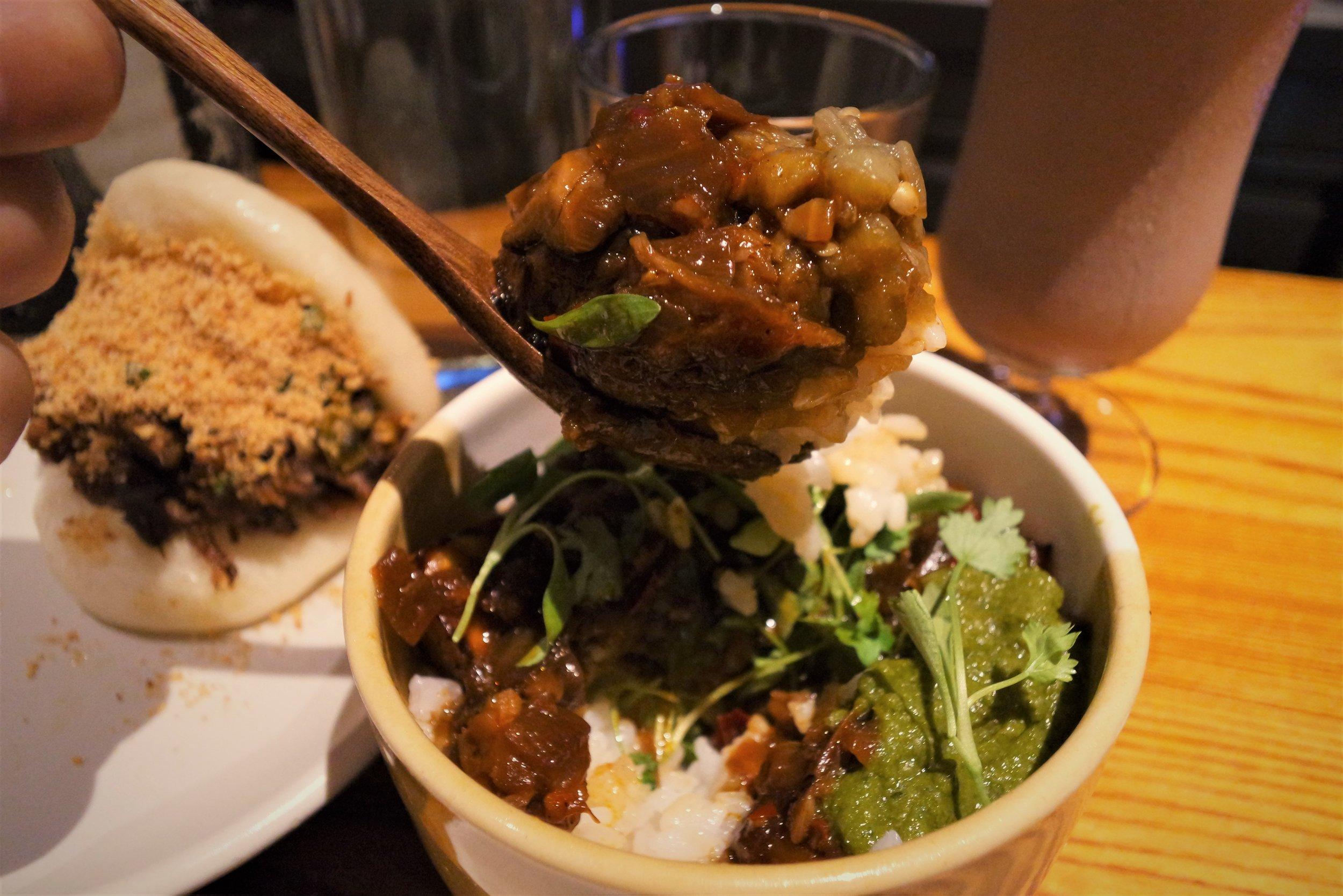 bao fitzrovia mapo aubergine rice bowl