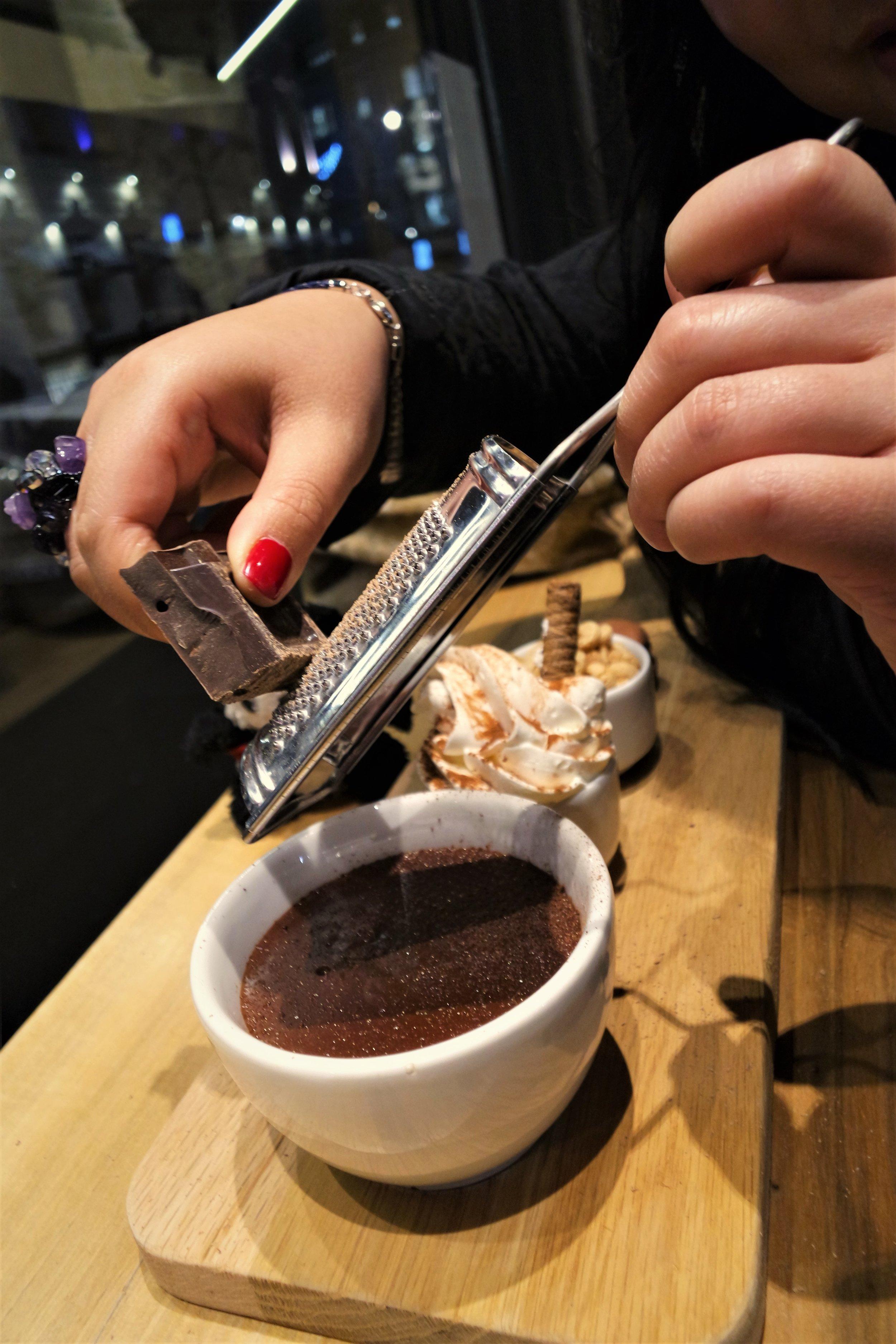 shaving chocolate