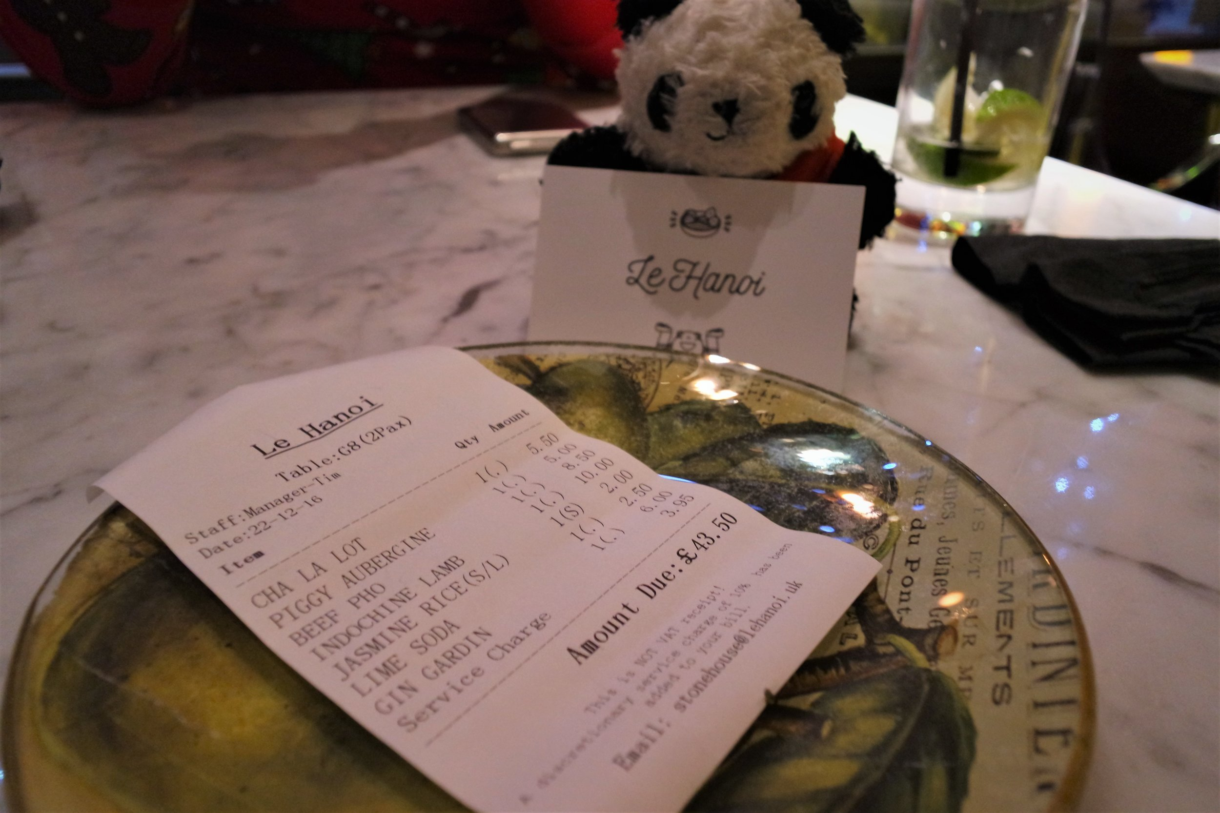 le hanoi meal price