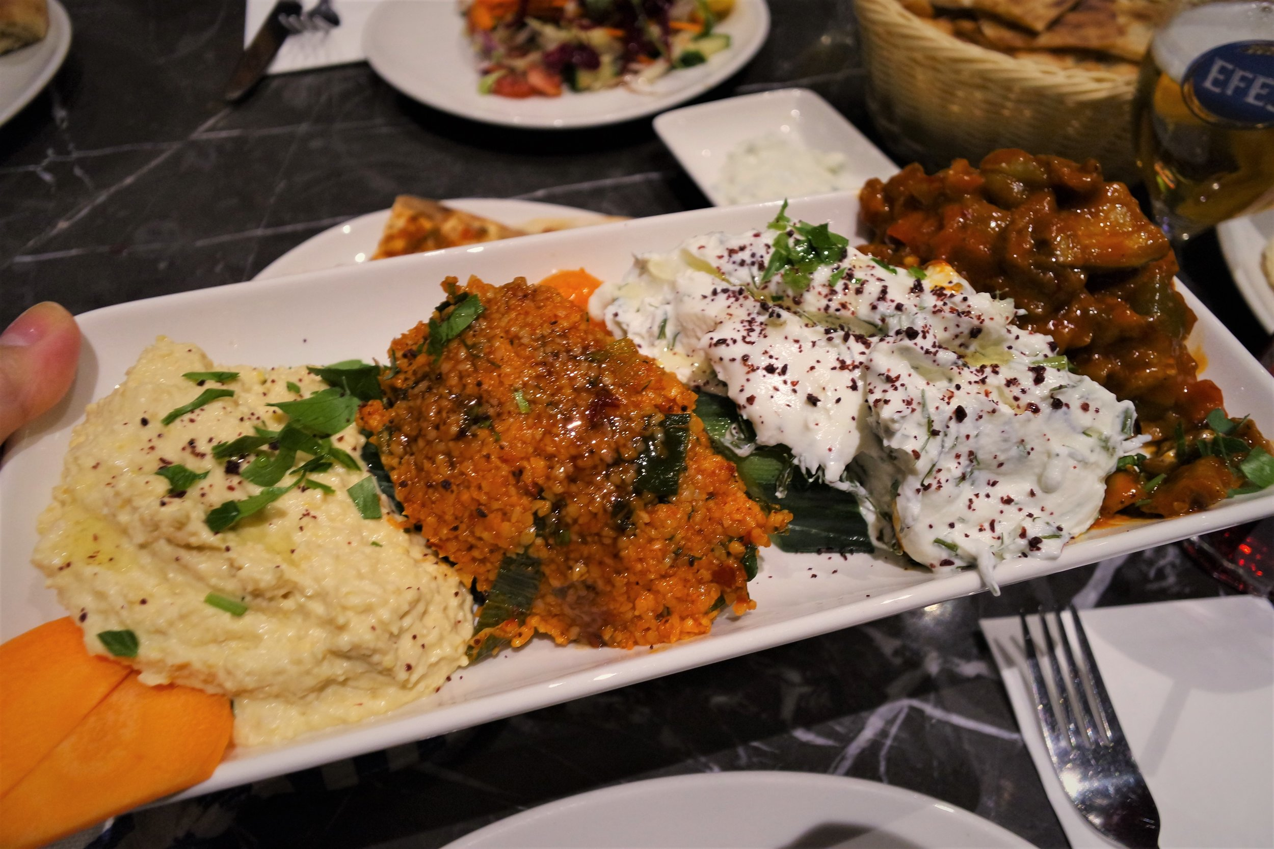 Gökyüzü - Small mixed mezze (£9.50)