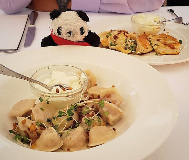 #pierogi aka #polish #dumplings from @ogniskorestaurant 🤤🥟🤤🥟🤤🥟🤤🥟🤤 . . I went last summer to have their pre-theatre menu, but was sad that it didn't include pierogies. How could I not have pierogies at a polish restaurant??? So I had to eat my 2 course meal slowly until it hit the time that I was allowed to order from the a la carte menu, only that that I could have a plate of these beauties 😍 the restaurant itself is also very pretty, and if you can get a seat outdoors on the terrace! . . #thegreedypanda #thegreedypanda_london #food #foodpics #picoftheday #foodreview #foodbloggers #foodheaven #london #londonfoods #londonfoodbloggers #londonfoodie #eater #buzzfeast #igerslondon #eeeeats #thisislondon #tastelondon #eatfamous #forkyea #cameraeatsfirst #eathotdinners #ognisko #kensington