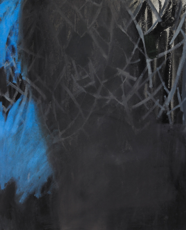 "Blue Hour,  oil on canvas, 20""x 16"", 2012"