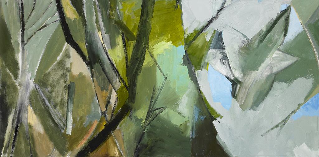 "Earth, River, Sky , oil on canvas, 24"" x 48"", 2010"