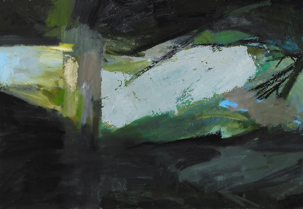 """River Night , oil on canvas, 22"""" x 32"""", 2011"""