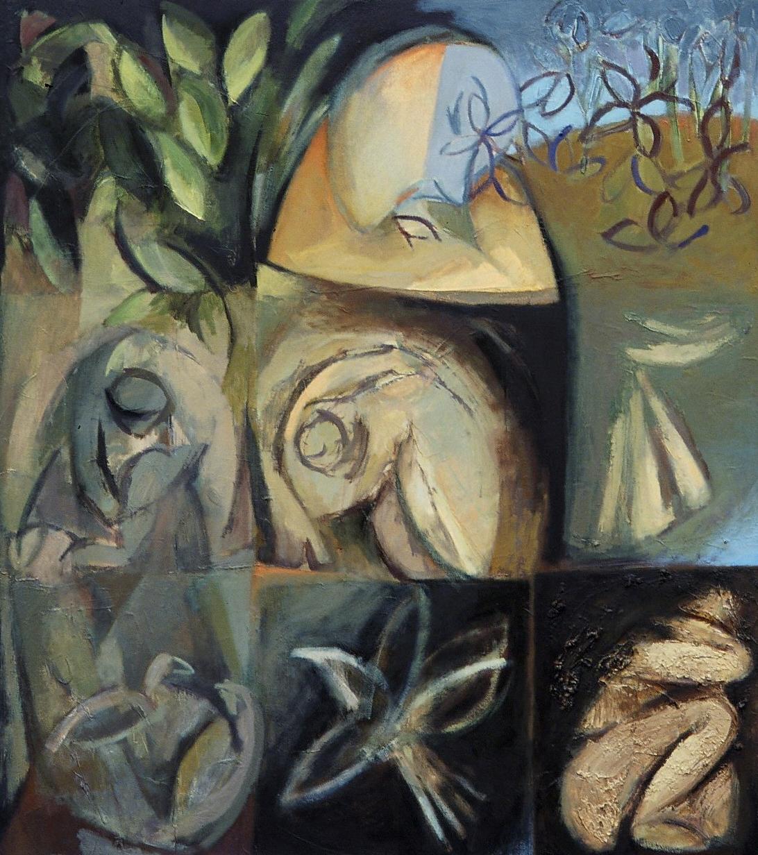 "Excavation , oil on canvas, 32"" x 28"", 2001"