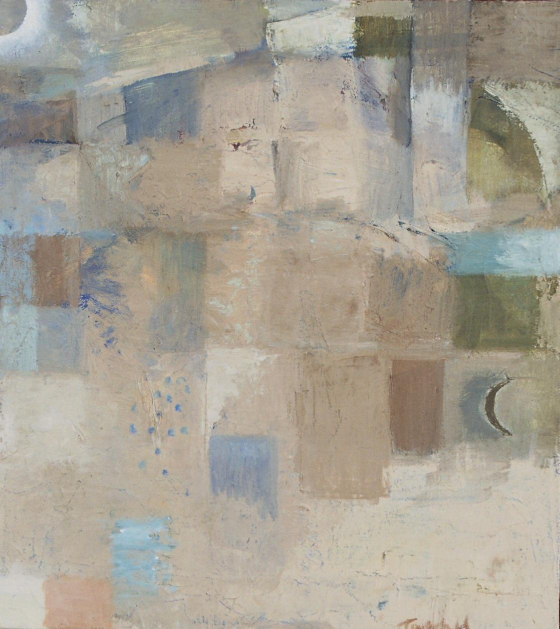 "Desert , oil on canvas, 16"" x 14"", 2001"