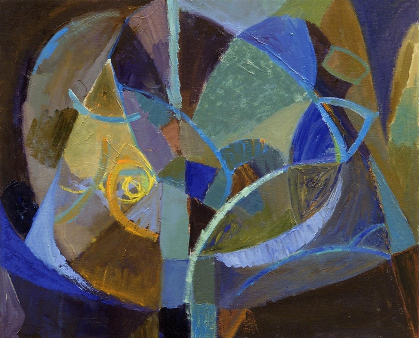 "Evening Tree , oil on canvas, 16"" x 20"", 2006"
