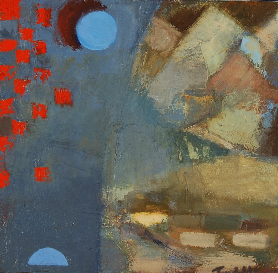 """Postcard from Egypt , oil on canvas, 10"""" x 10"""", 2002"""