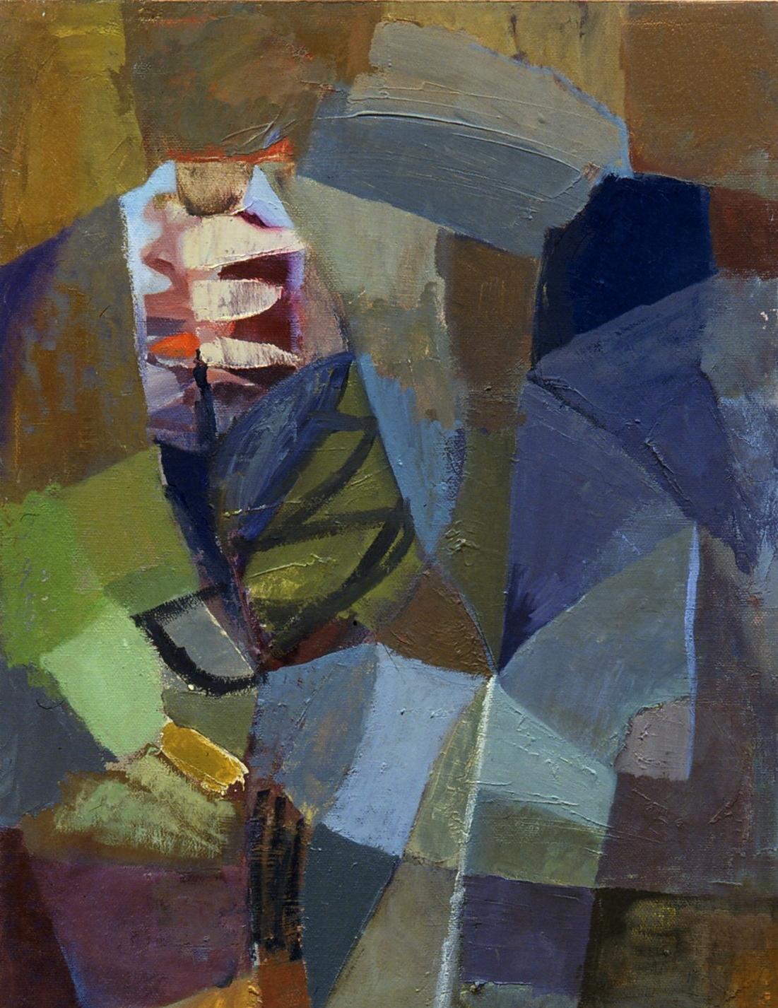 "Rock Garden , oil on canvas, 14"" x 12"", 2002"