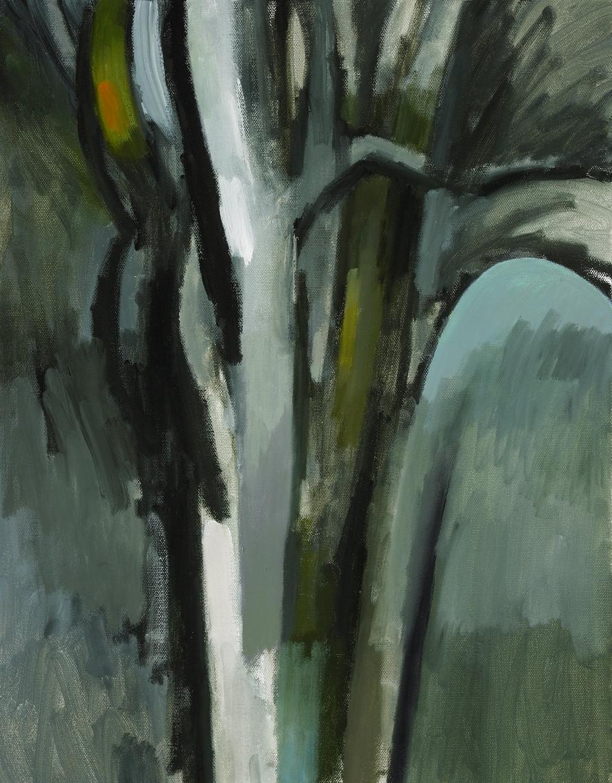 "Winter Tree , oil on canvas, 18"" x 14"", 2009"