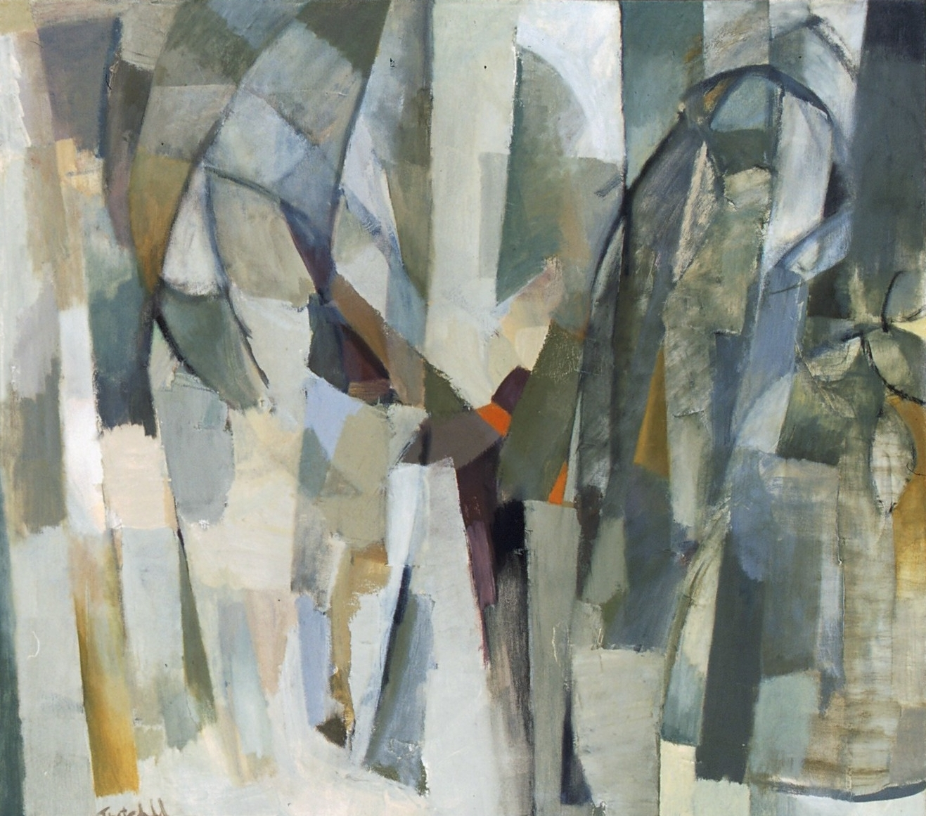 """Early Spring , oil on canvas, 26"""" x 30"""", 2001"""