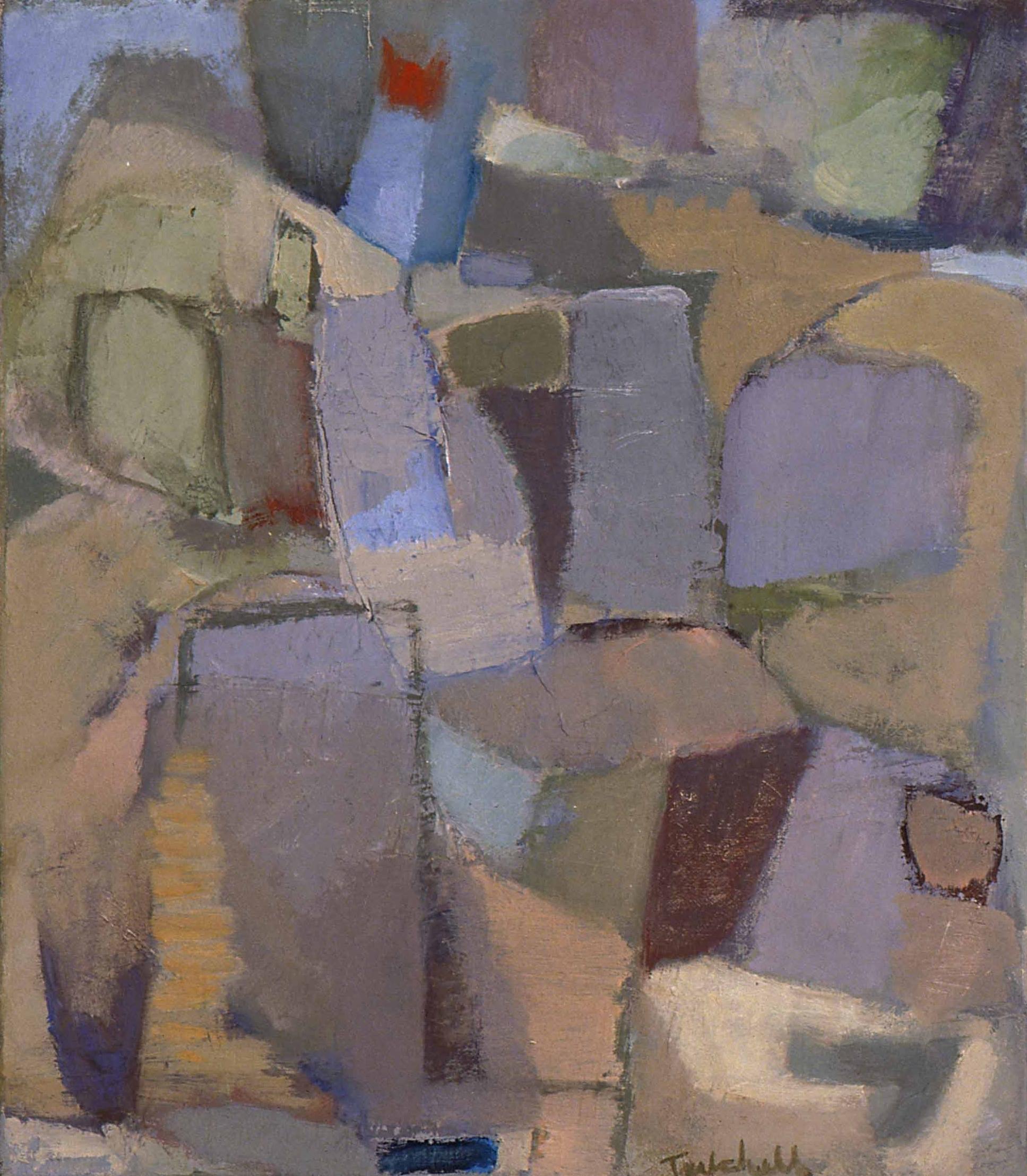 "Rock Garden , oil on canvas, 14"" x 12"" 1998"