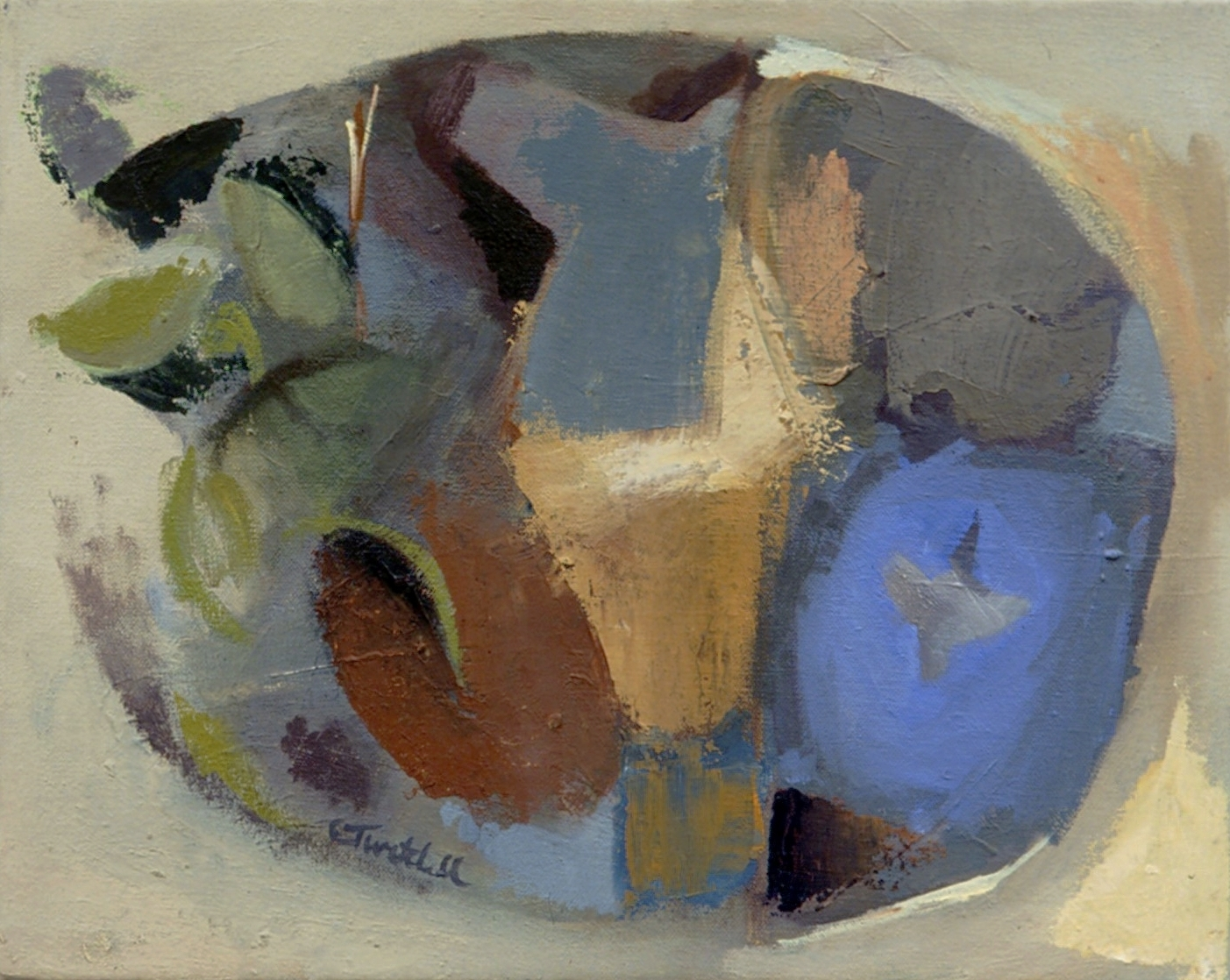 "Nest , oil on canvas, 12"" x 14"", 2005"
