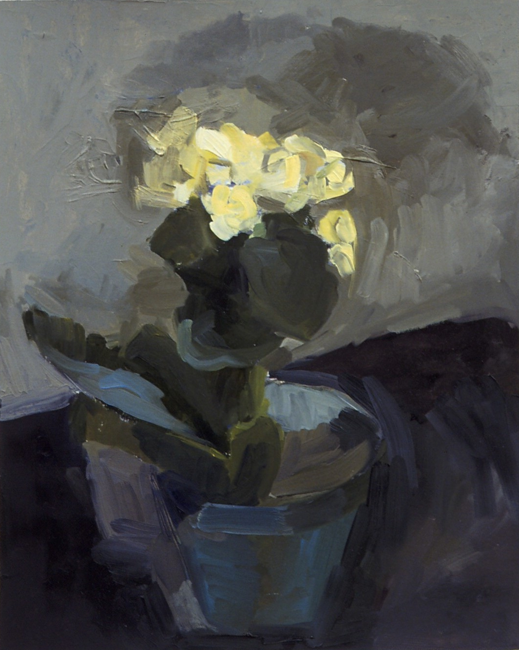 """Begonia , oil on paper, 13"""" x 11"""", 2003"""