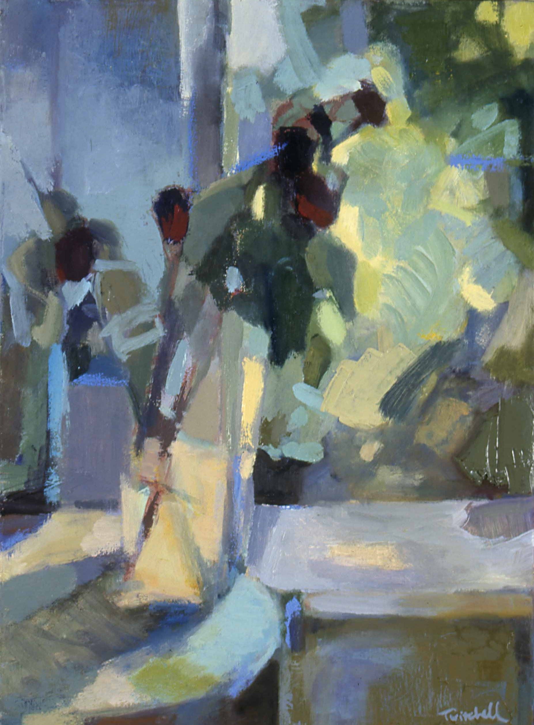 """Late Afternoon , oil on canvas, 16"""" x 11"""", 1999"""