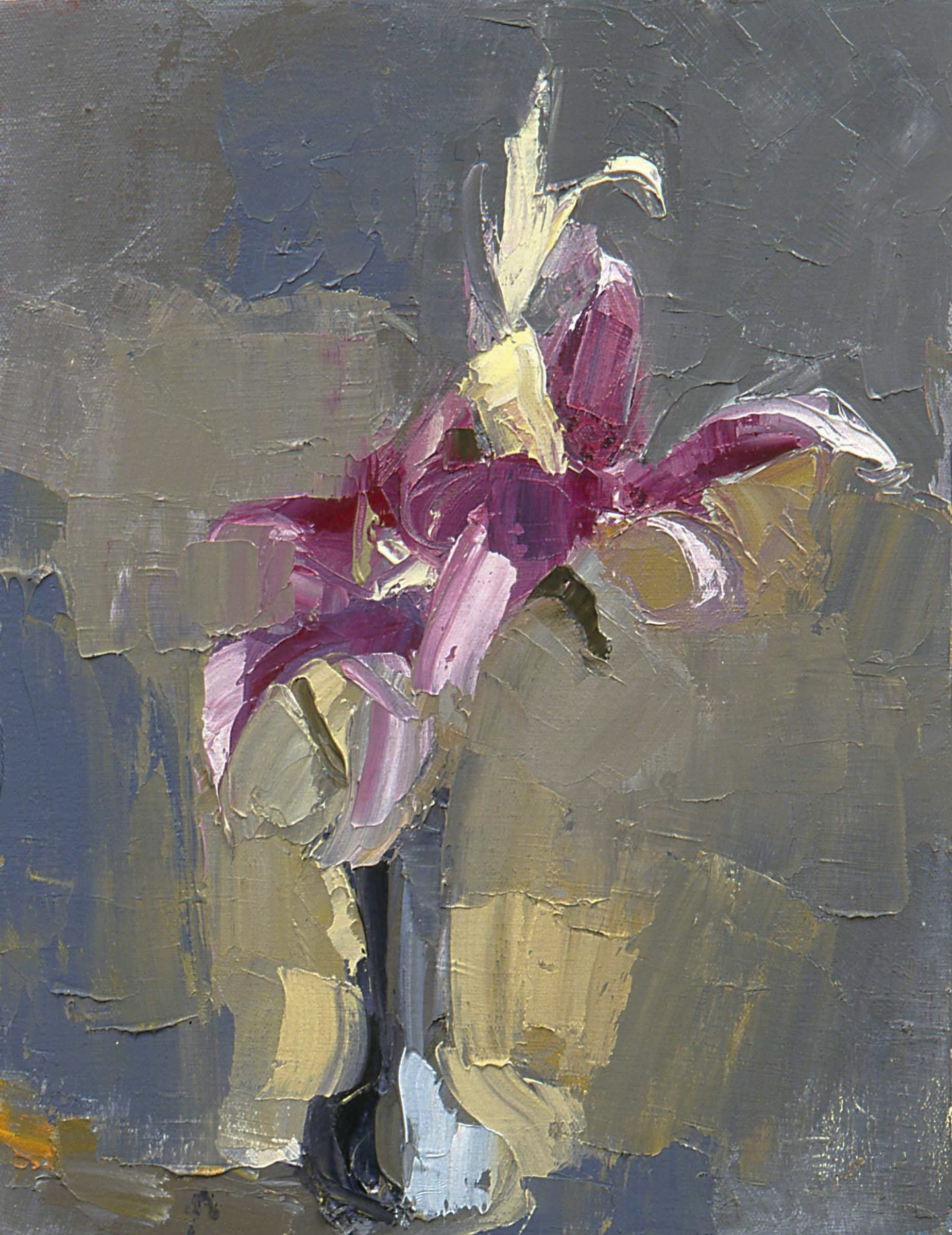 """Lilies , oil on canvas, 14"""" x 12"""", 2003"""