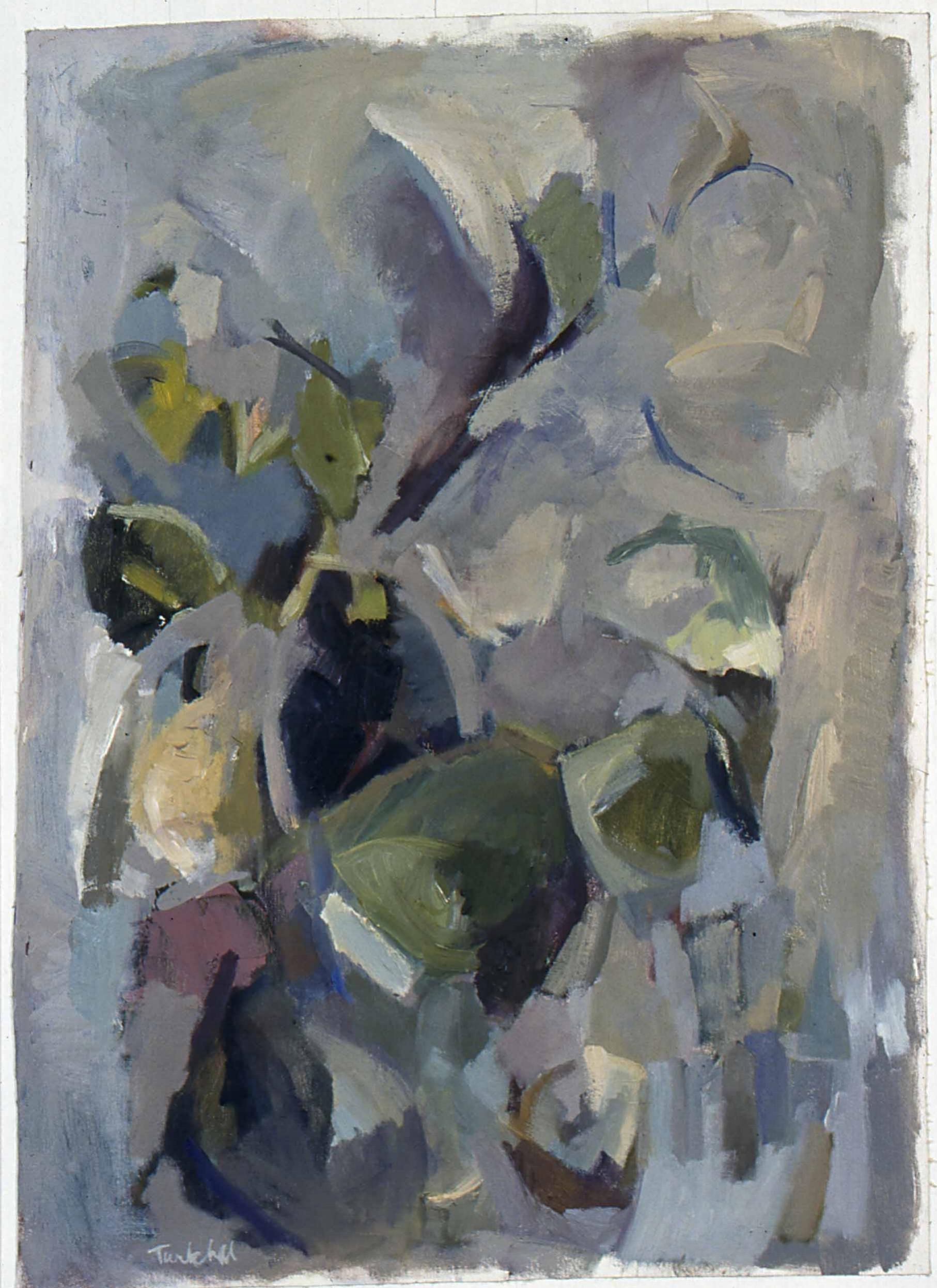 """Growth , oil on canvas, 34"""" x 28"""", 1999"""