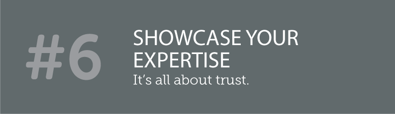 WHY BLOGS ARE SO IMPORTANT TO A SMALL BUSINESS AND ITS ONLINE PRESENCE - #6 SHOWCASE YOUR EXPERTISE - it's all about trust. ITSORGANISED.COM