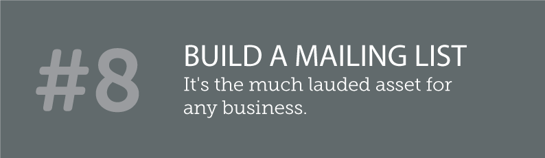 WHY BLOGS ARE SO IMPORTANT TO A SMALL BUSINESS AND ITS ONLINE PRESENCE - #8 BUILD A MAILING LIST - it's the much lauded asset for any business. . ITSORGANISED.COM