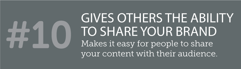 WHY BLOGS ARE SO IMPORTANT TO A SMALL BUSINESS AND ITS ONLINE PRESENCE - #10 GIVES OTHERS THE ABILITY TO SHARE YOUR BRAND - makes it easy for people to share your content with their audience.. ITSORGANISED.COM