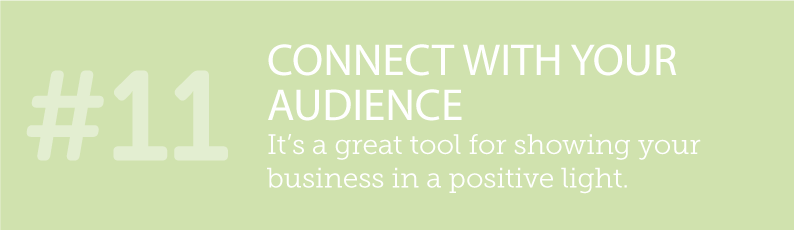 WHY BLOGS ARE SO IMPORTANT TO A SMALL BUSINESS AND ITS ONLINE PRESENCE - #11 CONNECT WITH YOUR AUDIENCE - its a great tool for showing your business in a positive light. ITSORGANISED.COM