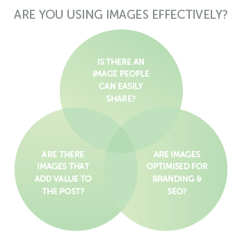 Do you use images effectively on your website? Adding an image to a blog post isn't just about adding a bit of colour or something nice to look at.  Today's post will look at the importance of having a shareable image, using additional images to add value to a post, and how to make sure all your images are optimised. itsorganised.com | small business online content