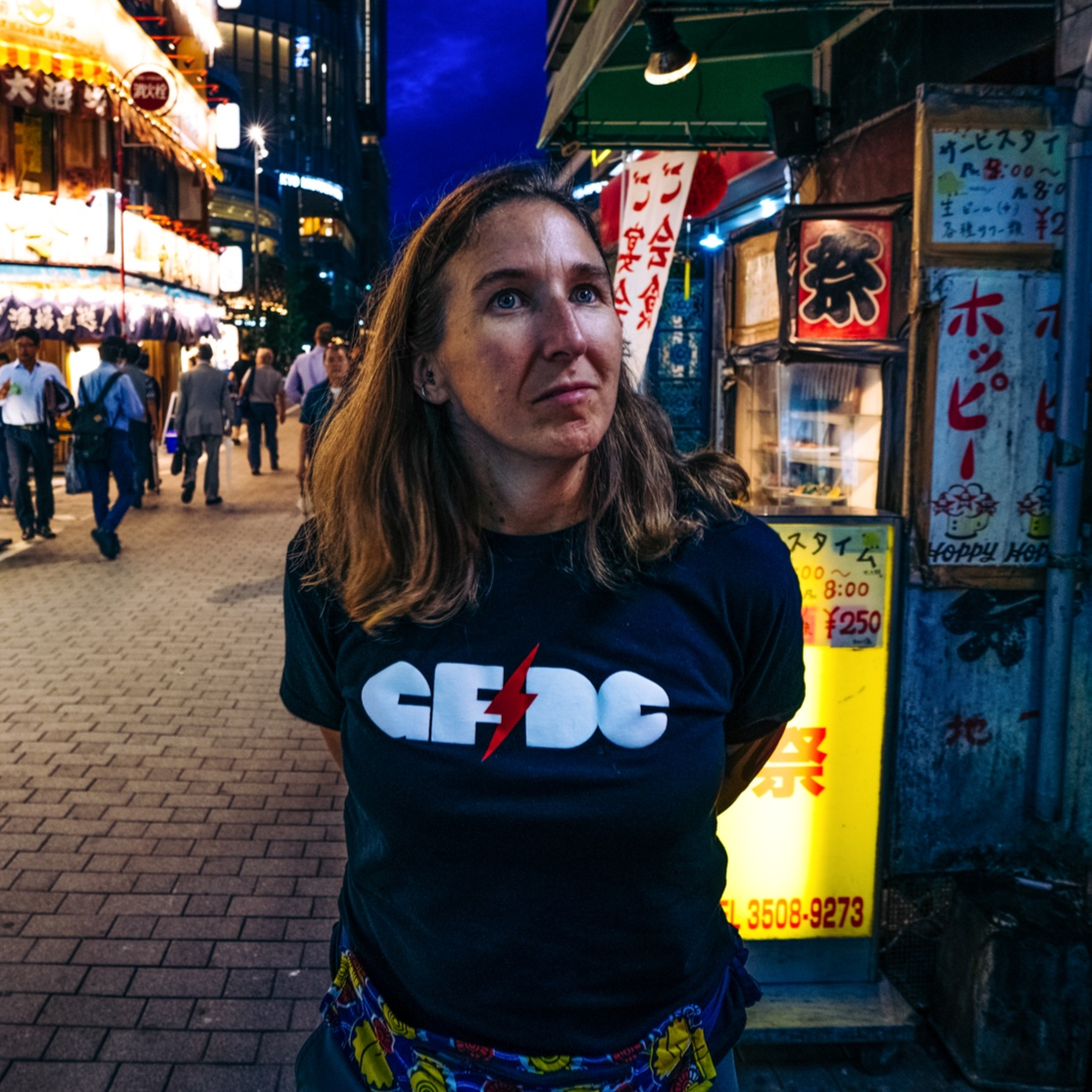 Melissa on assignment in Tokyo.