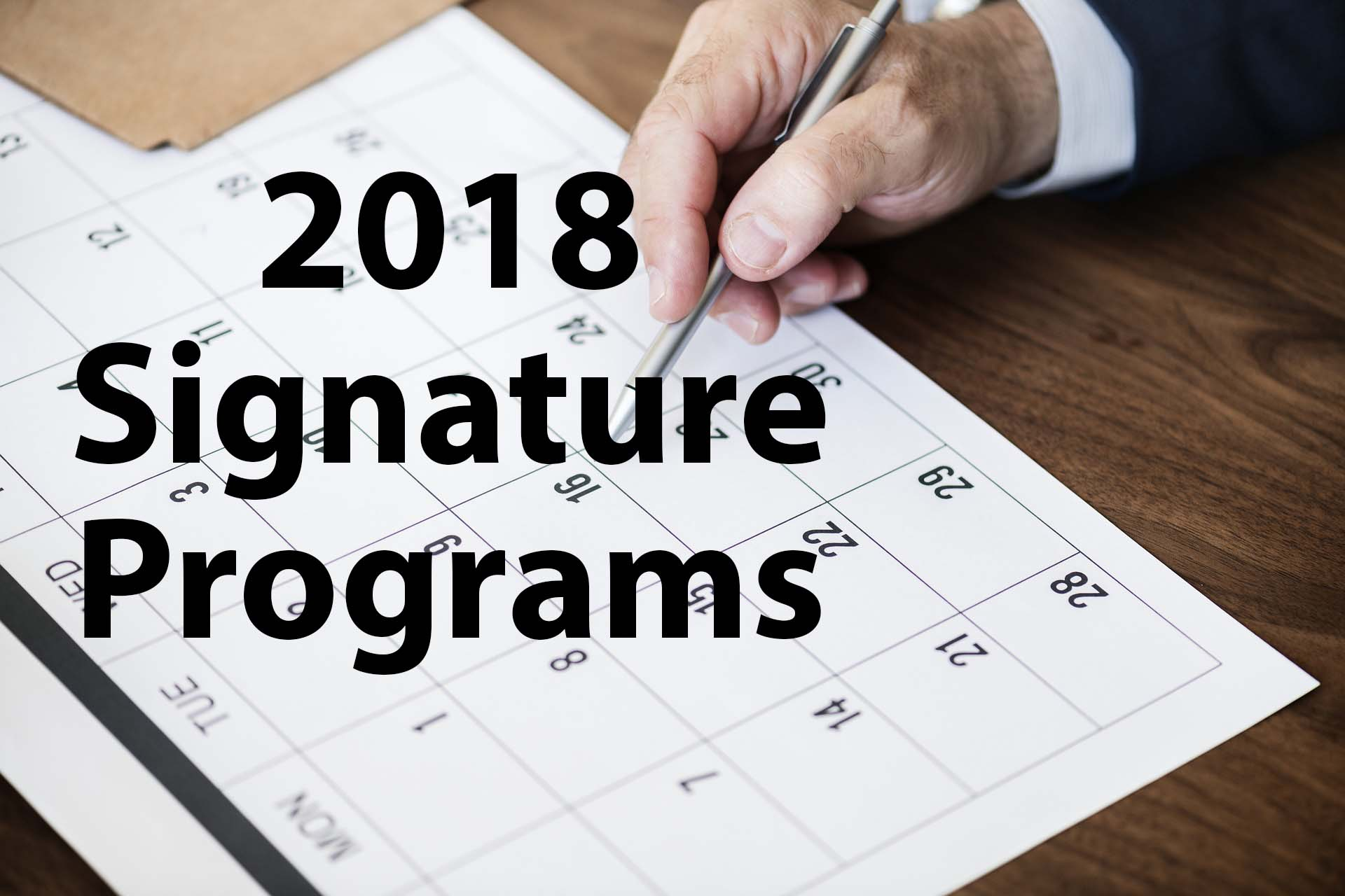 2018 Signature Events