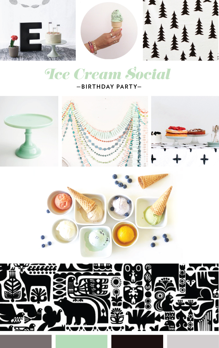 Mara Dawn Ice Cream Party Mood Board