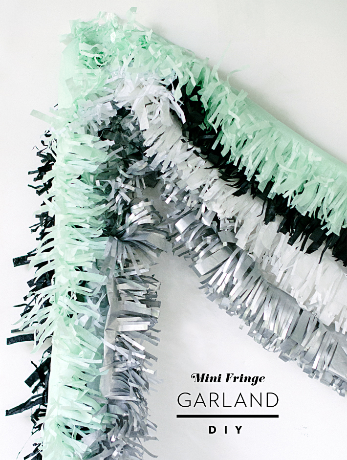 Mini Fringe Garland DIY   Mara Dawn