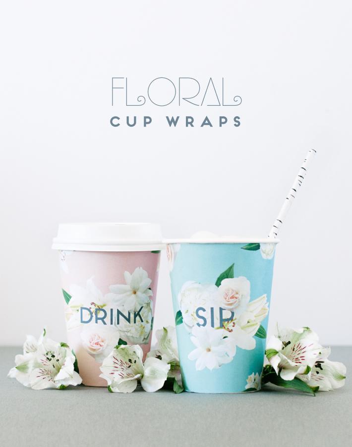 floral cup wraps printable mara dawn