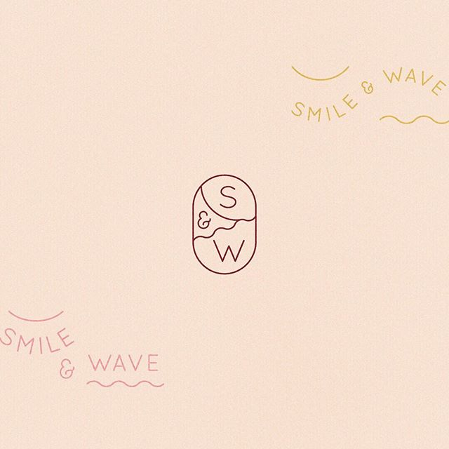 A little behind the scenes of the design process. Here's a logo direction for @smileandwave that uses simple line shapes to evoke Rachel's brand name and the yarn from her beautiful weavings. We cut this one and went a different direction for the final logo but I always held a place in my heart for this simple yet playful version.