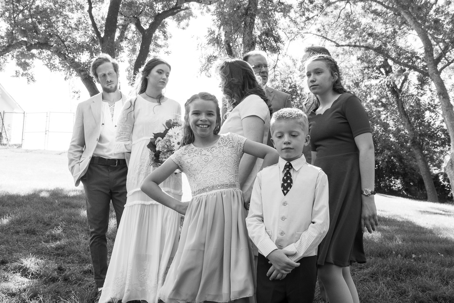 utah family wedding portrait
