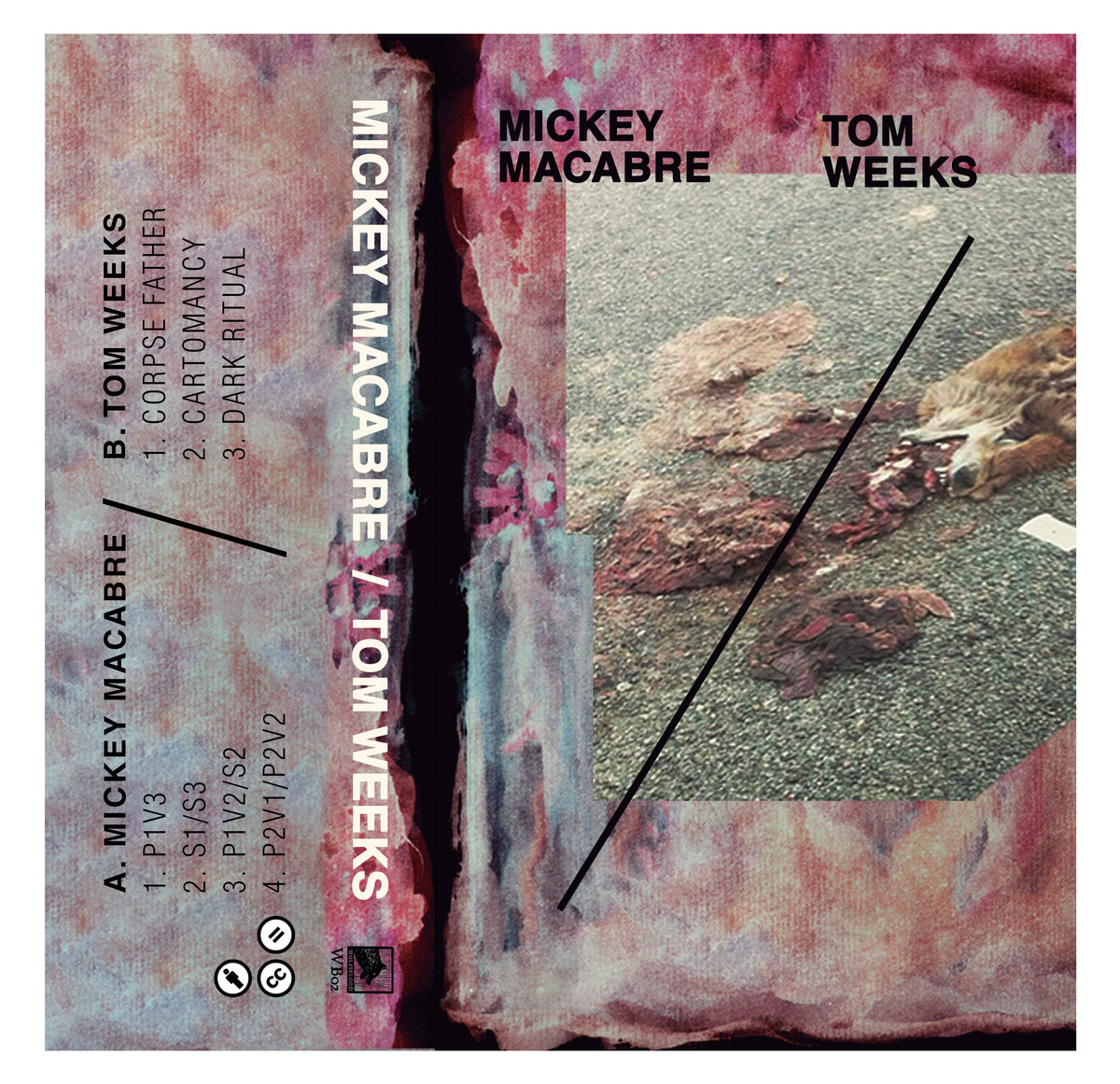 Mickey Macabre/Tom Weeks -  Split  (2017) Wolfsblood