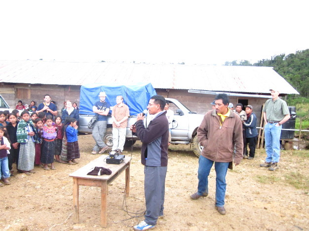 A local pastor and the village president welcomed the group.