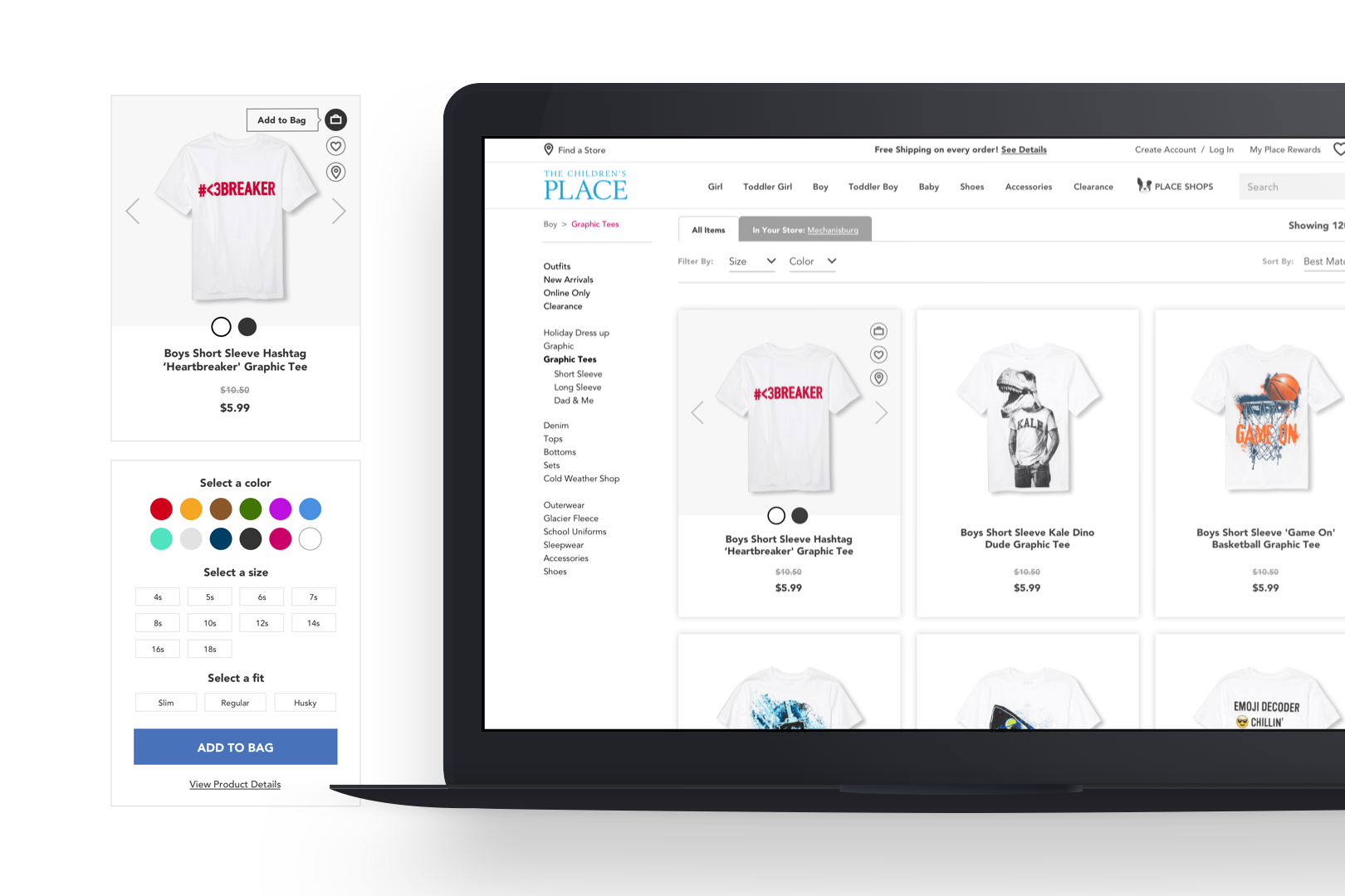 PRODUCT LIST PAGE + QUICK ADD + HOVER