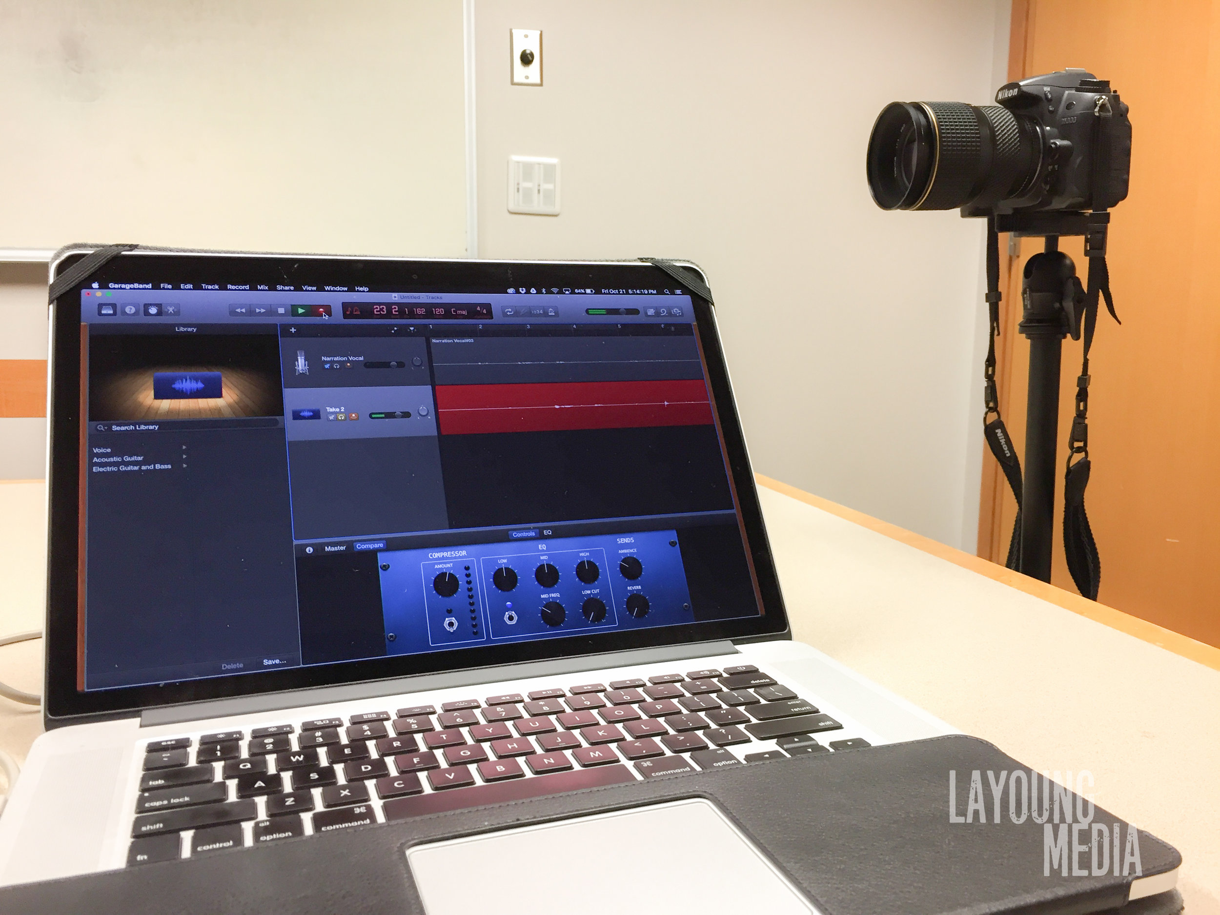 Behind the scenes work during Voice over recording for Alpha Xi Delta sorority at Eastern Washington University.